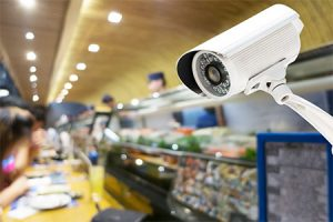 image of CCTV camera with nightvision
